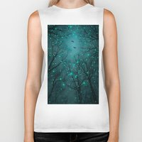 lights Biker Tanks featuring One by One, the Infinite Stars Blossomed by soaring anchor designs