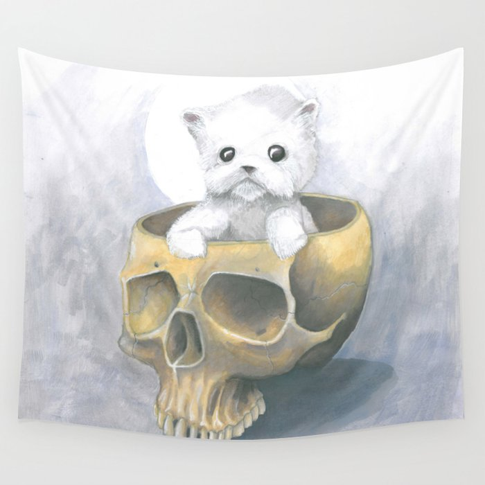 i ated all the brains Wall Tapestry