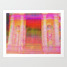 Multiplicitous extrapolatable characterization. 18 Art Print