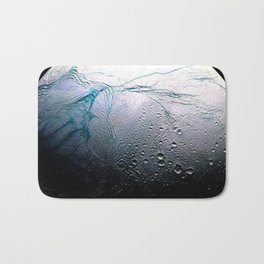 Saturn's moon Enceladus Space Mission Fly-by Photograph No. 3 Bath Mat