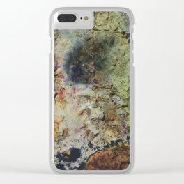 """""""Rusty grunge surface"""" Clear iPhone Case"""