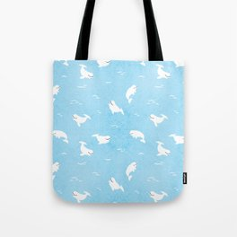 Beluga Whales Tote Bag