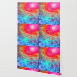 Galaxy : Bright Colorful Nebula Wallpaper