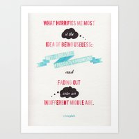 sylvia plath Art Prints featuring QUOTE//SYLVIA PLATH by Connie Cann