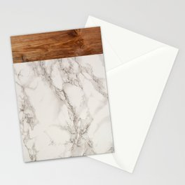 Wood and Marble Stationery Cards