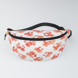 Red Crabs in Japanese watercolors Fanny Pack