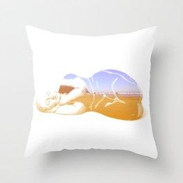 Lazy Lady Throw Pillow