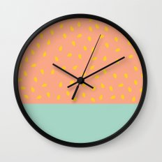 Peach Fuzz and Pit Wall Clock