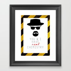 HEISENBERG BREAKING BAD Real Chemistry Framed Art Print