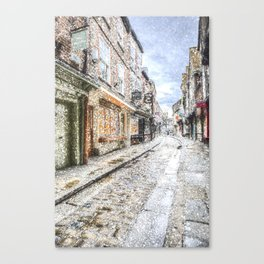 The Shambles York Snow Art Canvas Print