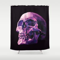 skull Shower Curtains featuring Skull by Roland Banrevi