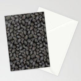 Dark glossy pebbles Stationery Cards