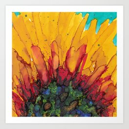 Flaming Flower Art Print