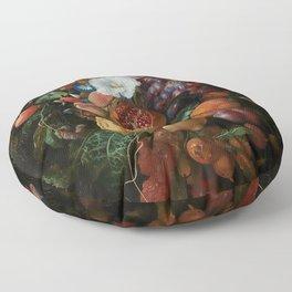 Antique Botanical IV [antique painting remixed] Floor Pillow