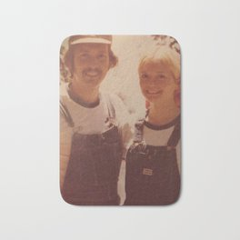 Mom and dad honeymoon Bath Mat