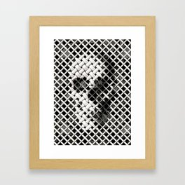 Wicker Skull Framed Art Print