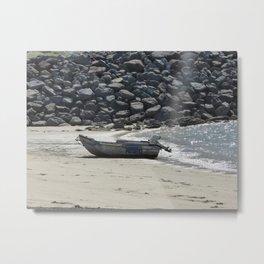 Boat Haven Beach Metal Print
