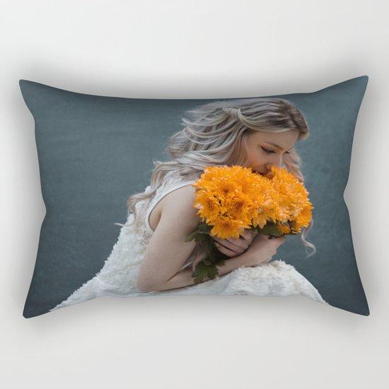 Flower morning Rectangular Pillow