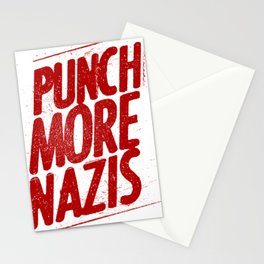 Punch more nazis Stationery Cards