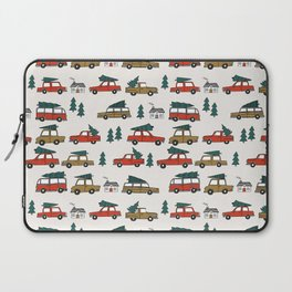Christmas tradition christmas tree car drive home winter holidays Laptop Sleeve