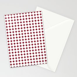 Maroon & White Circles pattern 01 Stationery Cards