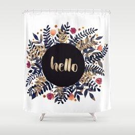 Hello autumn - purple and ochre Shower Curtain