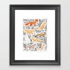 Foxes Field Guide Framed Art Print