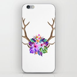 Floral Horn iPhone Skin