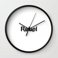 rebel Wall Clocks featuring Rebel by Sample