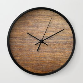 Rustic brown gold wood texture Wall Clock