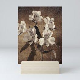 Vintage Flowers Digital Collage 19 Mini Art Print