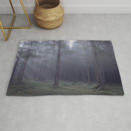 Spooky forest - North Kessock, The Highlands, Scotland Rug