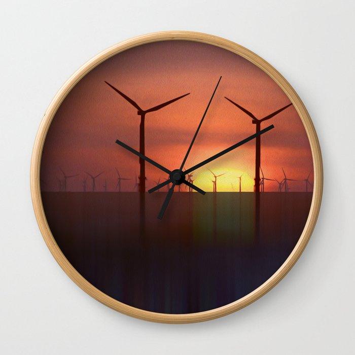Clean Energy (Digital Art) Wall Clock