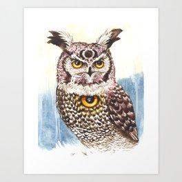 Owl Seeing Eye Art Print