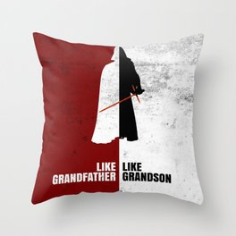 Like Grandfather, like Grandson Throw Pillow