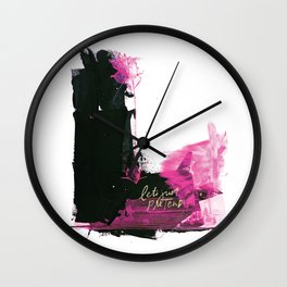Let's Just Pretend Wall Clock