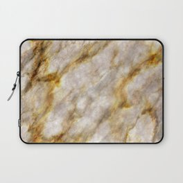 Gold Streaked Marble Laptop Sleeve