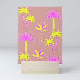 Palm Trees - Neutral & Neon Mini Art Print