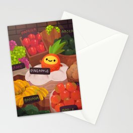 Pineapple NANA in the market Stationery Cards