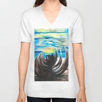 shell V-neck T-shirts featuring Shell by Katrina Berkenbosch