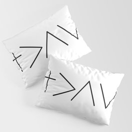 God is greater then the highs and the lows Pillow Sham