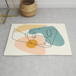 Abstract Face 25 Rug