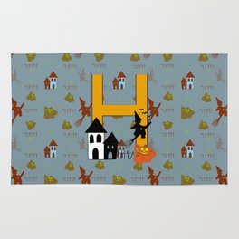 H is for Halloween Rug