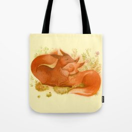 foxes couple Tote Bag