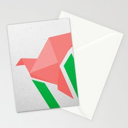 Flying origami Stationery Cards