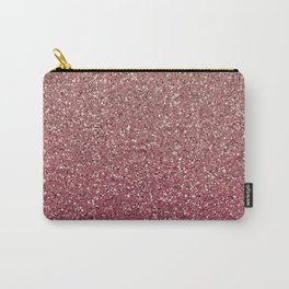 Pastel Pink Ombre Glitter Carry-All Pouch