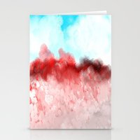 minerals Stationery Cards featuring Pink Minerals by Jessielee