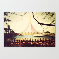 Carousel Goes Round and Round Canvas Print