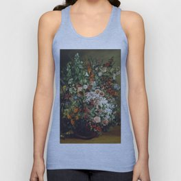 Gustave Courbet - Bouquet Of Flowers In A Vase Unisex Tank Top