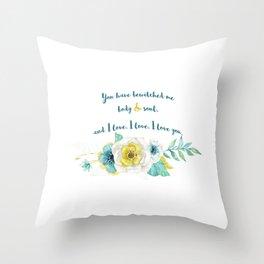 Pride and Prejudice, Jane Austen Throw Pillow